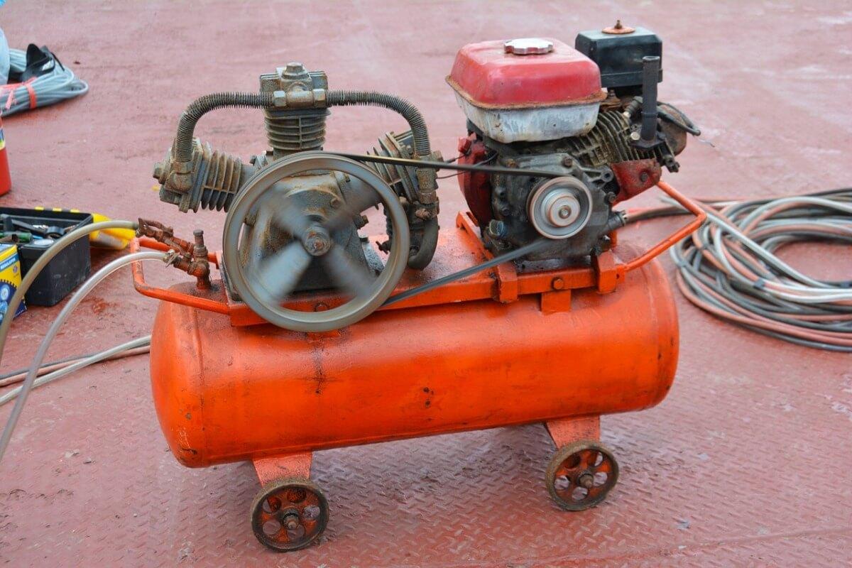 installing air compressor