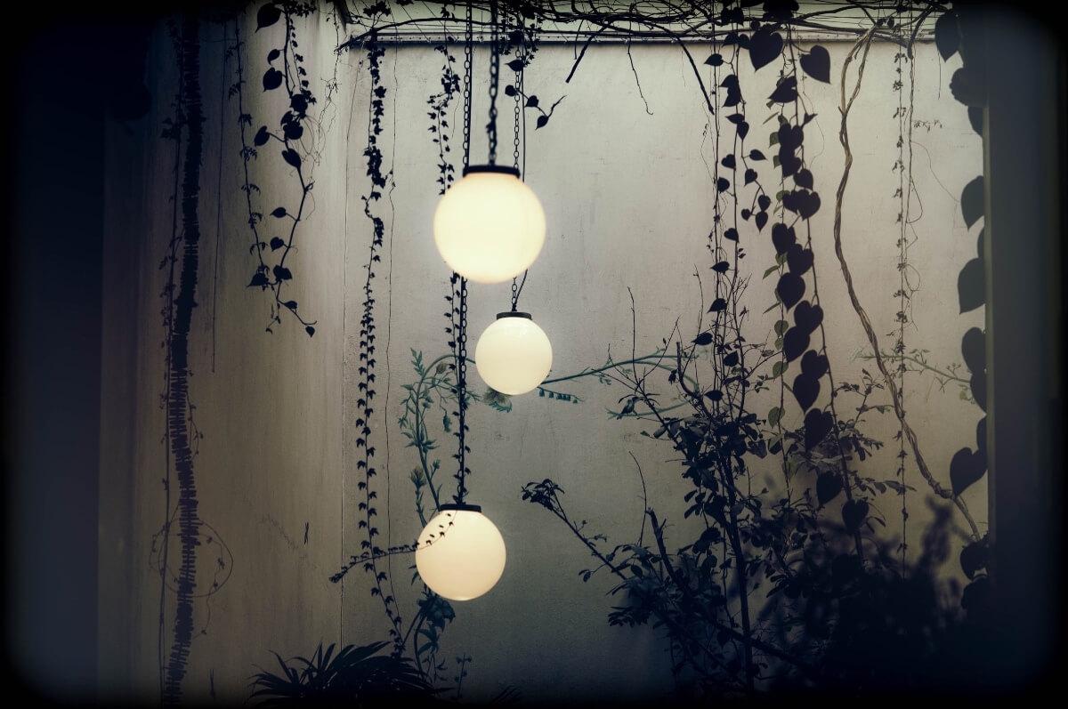 outdoor lights - Hanging sphere lights