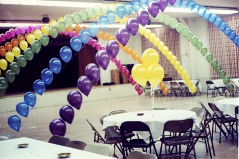 balloon arch rainbow tunnel