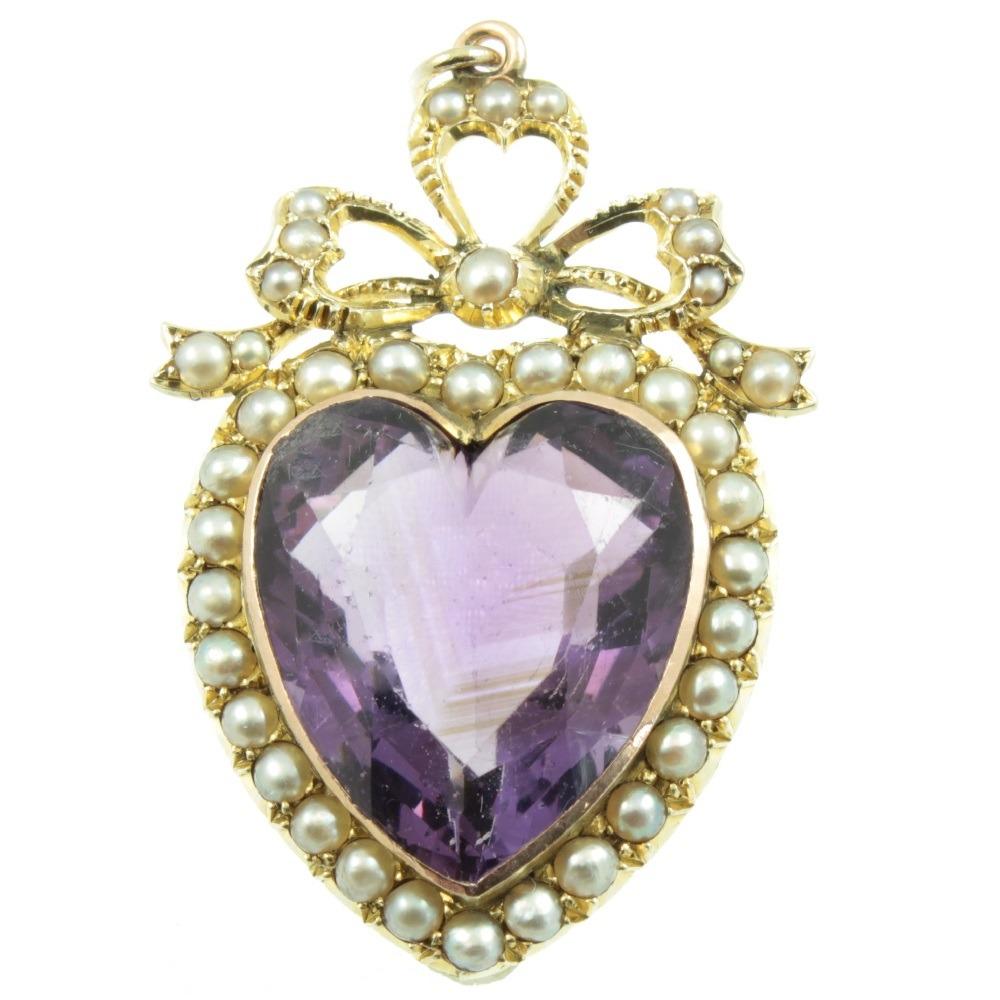Edwardian-amethyst-and-split-pearl-pendant