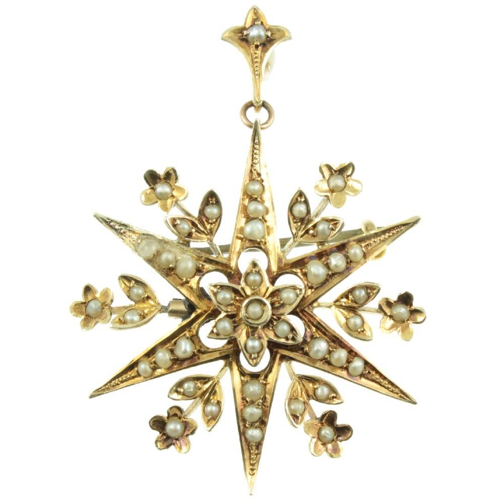 edwardian-split-pearl-star-pendant
